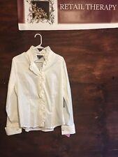 NWT Classiques Entier White Dress Blouse LS L