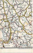 Zschopau Marienberg Jöhstadt 1930 kl. orig. Auto-Teilkarte/Ln. Annaberg Vejprty