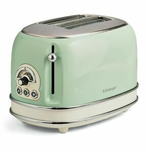 Ariete Tostapane con pinze Toaster Vintage 2 fette verde 155 GARANZIA ITALIA