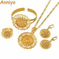Necklace And Bracelet Set Women Bridal Wedding Jewelry Fashion African Pendant