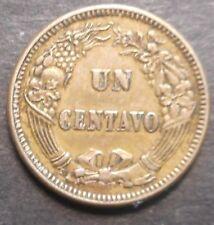 Peru  1863 Un Centavo  Coin Nice Better detail