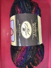 Purl Essence Big Skein Yarn-8 Oz- Rainbow Boucle Black Multi- 1 large Skein