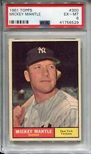1961 Topps #300 Mickey Mantle PSA 6 EX-MT New York Yankees