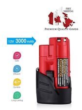 2 Pack Powerextra 12V 3000mAh Lithium-ion Replacement Battery for Milwaukee M12