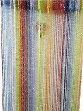 ave split Decorative Door String Curtain Wall Panel Fringe Window Room,Colorful1