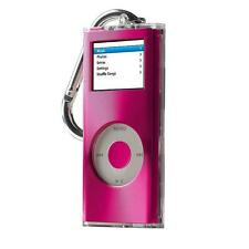 iPod Nano 2G 2nd Gen Belkin Brushed Metal Top Clear Acrylic Pink Case Belt Loop