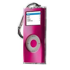 iPod Nano 2G 2nd Gen Belkin Brushed Metal Top Clear Acrylic Pink Case Belt Loop
