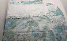 Vintage Sheets Linens Twin Flat and Fitted Percale USA Springmaid Birds Floral Oriental