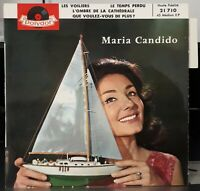 """Rare EP - Maria Candido - """"Les Voiliers"""" or.fr 1960 - Comme Neuf ! + Languette !"""