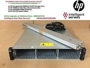HP P2000 G3 MSA FC Dual 8GB Controller 24x SFF with Rails ** AP846A **