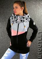ZAZOU Sweatjacke Schwarz Gr. XL 42 Damen Kapuzenjacke Jacke Zip Hoodie A559