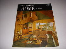 Vintage AMERICAN HOME Magazine, August, 1952, MID-CENTURY DECOR, MARBLE GLASS!