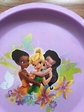 "Disney Fairies Circle 8"" Purple Plastic Kid's Plate Zak Design"
