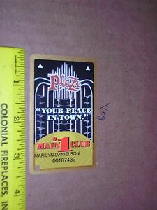 Plaza Casino Players Slot Club Card Las Vegas NV Nevada Hotel Resort Night view
