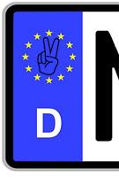 2x PEACE FINGER Aufkleber Sticker Kennzeichen Nummernschild Plakette Decal Fun