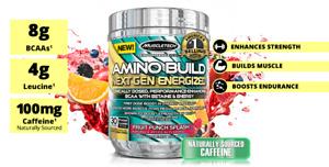 MuscleTech Amino Build Next Gen Energized BCAAs 30 Servings. SALE**
