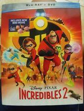 Incredibles 2 (2018 Blu Ray + DVD) Disney Pixar W/ Slipcover