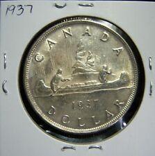 Canada 1937 Dollar 80% Silver Low Mintage KM#37 Ref#575