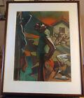 Peter Howson Innocence Lost Pastel on Paper - Framed Artwork