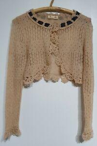 Alannah Hill Gorgeous Shrug dusty pink  Cardigan, Excellent Condition, Sz 14