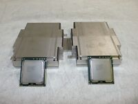 Matching Pair Intel Xeon E5530 SLBF7 2.4GHz QC CPU +Heatsinks for PowerEdge R610