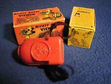 Vintage Mickey Mouse Filmstrip Viewer Orig Box & Dumbo Color 4-Filmstrip Set