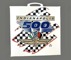 """Vintage 1990's INDIANAPOLIS 500 SPEEDWAY Seat Cushion Indy Race Car 15""""x14"""""""