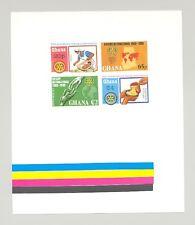 Ghana 1980 Rotary, Maps, Hunger, Health 1v Imperf Proof of Setenant Block of 4