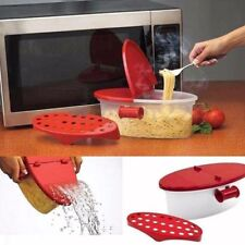 Microwave Pasta Boat Cooker Spaghetti Cooking Noodles Drain Kitchen Gadget Box