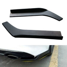 2×Universal Car Bumper Spoiler Anti-crash Rear Lip Wrap Angle Splitter Diffuser