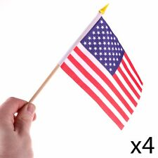 4 X USA Hand Waving Flags American Election Party Donald Trump Hillary Clinton