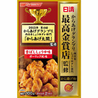 Nisshin Karaage Japanese Fried Chicken Flour Mix Soy Sauce & Garlic Flavor 100g