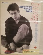 Joey McIntyre Solo Tour Indonesia Promo Poster *Rare*Mint* New Kids Block