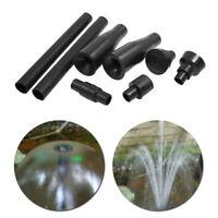 8Pcs Fountain Water Pump Nozzle Set Plastic Spray Heads Garden Pond Attachments