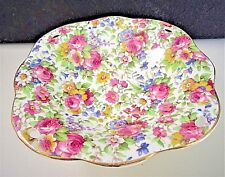 """ROYAL WINTON """"SUMMERTIME"""" CHINTZ COMPOTE CANDY NUT DISH"""