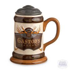 Disney Parks Beauty & the Beast Gaston's Tavern Stein Large Mug w/ Lid