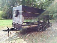 Heavy duty Livestock Trailer 20.5' Long x 6.5' Wide - 4 Ton Wild Hogs Pigs ramp