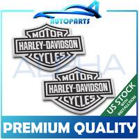 1 Pair Metal Fuel Tank Badge Emblem For Harley Davidson 3D Iron Sticker US