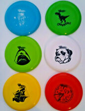 6 Wham-O Frisbee Astronaut Pirate Ship Bulldog Shark Pizza Boys Fun Toy LOT