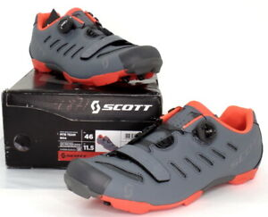Scott MTB Team Boa Mountain Bike Shoes Gray/Neon Orange Men's Size 11.5 US / 46