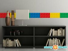 """Big Brick Wall Border Fabric Wall Decal - Set Of Two 25"""" X 6.25"""" Sections"""