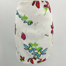 Christian Lacroix White/Multicolored Floral Pencil Skirt Size 8