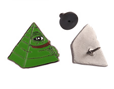 Pepe The Frog Illuminati Enamel Lapel Pin - 4chan Kek Dank Meme Badge Button