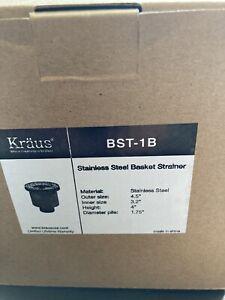 Kraus Stainless Steel Kitchen Sink basket strainer BST-1New