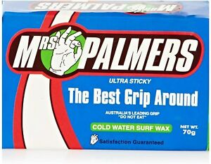 Mrs Palmers Cold Water Surf Wax Ultra Sticky Pack Surfboard 70g