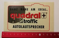 Aufkleber/Sticker: quadral traffic Autolautsprecher (270417143)