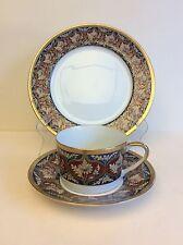 Vintage Porcelain Christian Dior 3-piece Tabriz Tea Set: Cup Saucer Plate, mark
