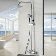 "Chrome 8""Rainfall Shower Faucet Set UP&DOWN Adjustable Tub Mixer Hand Spary Unit"