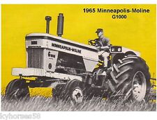 1965 Minneapolis-Moline G1000 Tractor Refrigerator / Tool Box Magnet