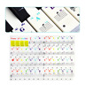 Colorful Keyboard Piano Stickers for 37/49/61/88 Key Transparent and Removable